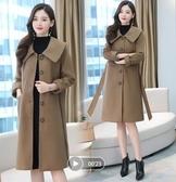 秋冬毛呢大衣女 中長款毛呢高端時尚休閒保暖外套大衣5666D603A依佳衣