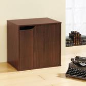 【Hopma】百搭疊疊櫃/單門櫃/收納櫃(有門有隔層)-胡桃木