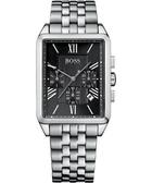 Hugo Boss 德意主張三眼計時腕錶(H1512576)-黑/銀