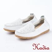 ★2018春夏新品★kadia.紓壓樂活 拼接羊皮休閒鞋(8020-01白)