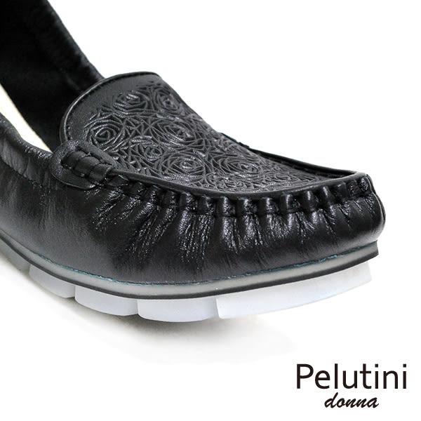 【Pelutini】donna果凍膠底休閒女鞋 黑色(8332W-BL)