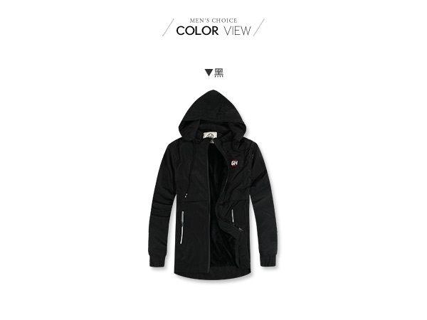 防水保暖風衣外套 前短後長內刷毛防風可拆帽外套【NW688020】