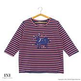 【INI】休閒實穿、線條色彩好感上衣.紅色