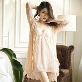 韓版女士性感睡衣春夏睡裙蕾絲綢情趣冰絲吊帶兩件套 LR255【歐爸生活館】