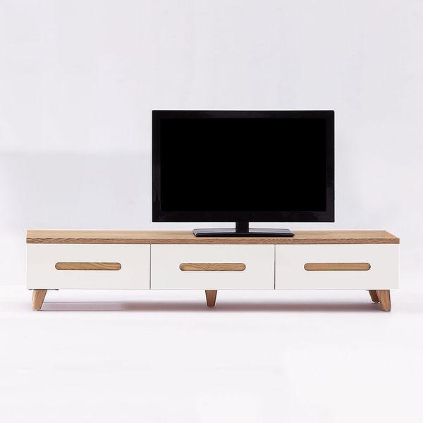 【森可家居】瑞奇6尺電視櫃 7JX174-4 長櫃 白色 木紋質感 無印北歐風
