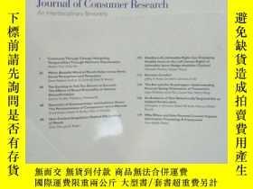 二手書博民逛書店Journal罕見of Consumer Research An