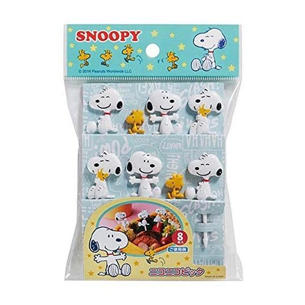 【震撼精品百貨】史奴比Peanuts Snoopy ~史努比 SNOOPY 造型食物叉 水果叉(8入)#16386
