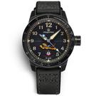 elegantsis / ELJX48MAS-FT-NEB01LC / 預購優惠價 飛虎隊限量腕錶 義大利皮革帆布錶帶 黑色 45.5mm