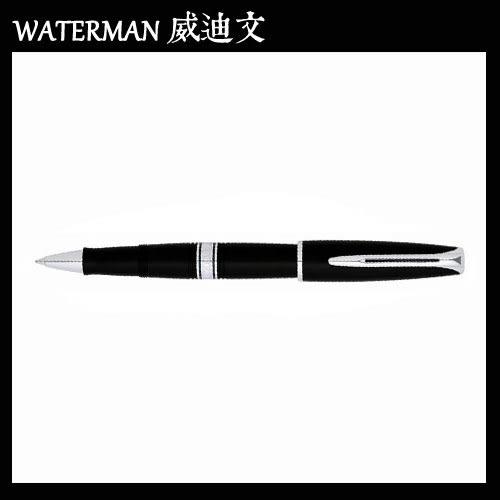 【MY】 WATERMAN CHARLESTON 查理斯登系列 黑桿白夾 鋼珠筆 W0701050