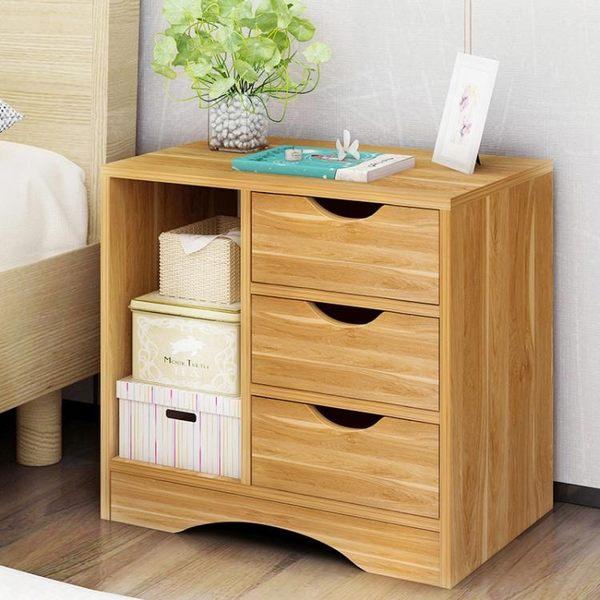 床頭櫃 床頭柜 收納柜簡約現代小柜子多功能儲物柜簡易臥室床邊柜經濟型