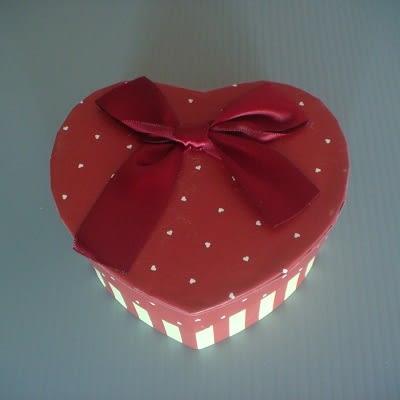 心型小禮物盒(暗紅色)/飾品盒