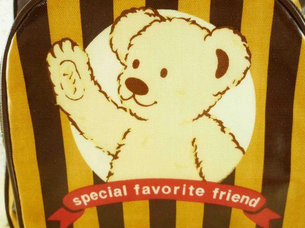 【震撼精品百貨】日本綜合熊_MILK TEDDY~後背包『咖啡條』