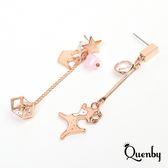 Quenby 甜美氣質小鹿斑比不對稱耳環/耳針