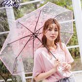 雨傘 滿開櫻花摺疊晴雨傘-Ruby s 露比午茶