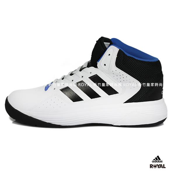 Adidas 新竹皇家 Cloudfoam Ilation MID 白色 皮質 網布 運動籃球鞋 男款 NO.A8814