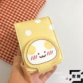 日韓卡通波點口紅包化補妝包包零錢包卡包女【左岸男裝】