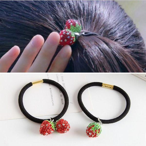 韓版 日韓 草莓 髮圈 髮飾 頭繩 水果 髮夾 紮髮 頭飾 橡皮筋