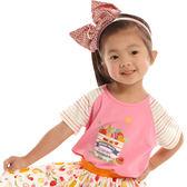 【愛的世界】圓領水果百匯拚接短袖T恤/6~8歲-台灣製- ★春夏上著