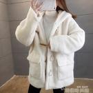 羊羔毛絨絨衛衣女秋冬寬鬆加絨加厚連帽外套ins潮2021新款慵懶風 韓國時尚週