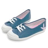 PLAYBOY 休閒時光 電繡兔兔綁帶懶人鞋-藍(Y7202)