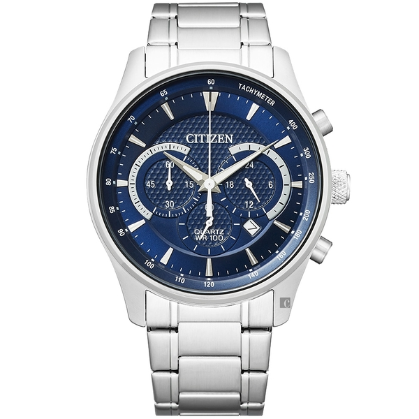 CITIZEN 星辰 Chronograph 計時手錶-藍/42mm(AN8190-51L)
