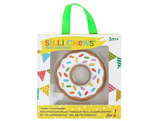 【愛吾兒】美國 SiLLi CHeWS 香草甜甜圈咬牙器  固齒器 美國設計 3個月以上適用