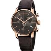 Calvin Klein CK City 都會紳士計時手錶-43mm K2G276G3