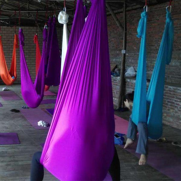 空中瑜伽吊床瑜珈吊床伸展帶空中活力帶有彈力2.8米寬吊床含配件