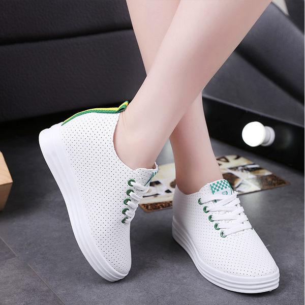 平底內增高小白鞋  米蘭shoe