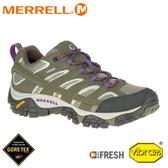 【MERRELL 美國 女 Moab 2 Gore-tex 戶外多功能登山鞋《橄欖綠》】033466/水陸兩棲/防水/溯溪/防臭