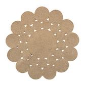 HOLA 繩編地毯90x90cm 花朵