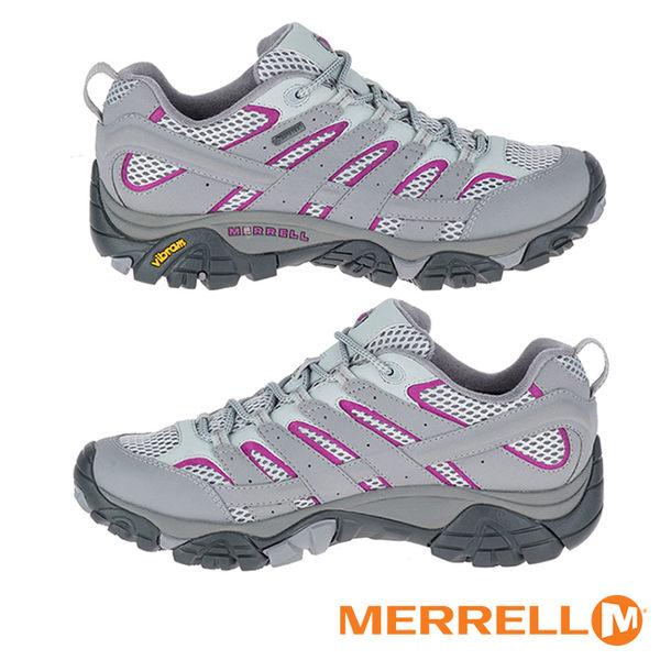MERRELL GORE-TEX防水透氣 MOAB 2 多功能登山健行鞋 淺灰紫 ML06082 女鞋