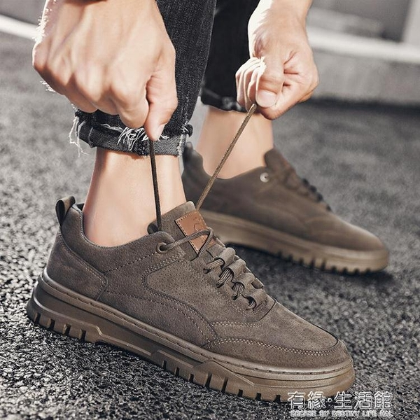 秋季新款馬丁靴男士工裝鞋英倫風低幫短靴男休閒潮流沙漠皮鞋 雙十二全館免運