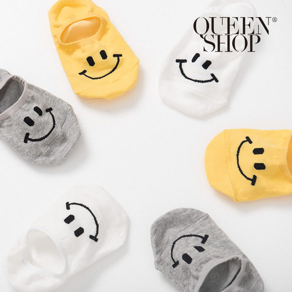Queen Shop【07110400】俏皮笑臉隱形襪 三色售*現+預*