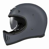 【東門城】M2R MX2 SV 素色(灰) 全罩式安全帽 山車帽 內墨鏡片
