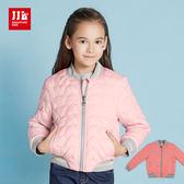 JJLKIDS 女童 愛心壓紋輕型保暖外套(2色)