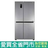 LG830L門中門對開冰箱GR-DL80SV含配送到府+標準安裝【愛買】