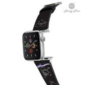 三麗鷗系列 Apple Watch 皮革錶帶 雙子星 (銀)