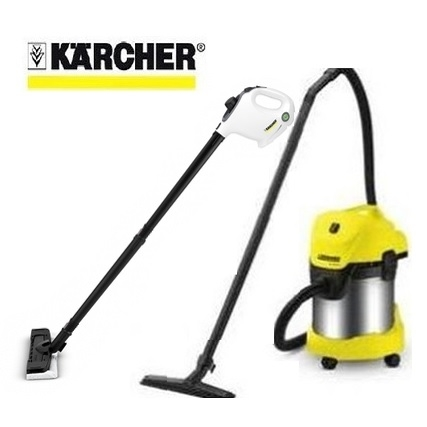 組合優惠 德國 凱馳 KARCHER  乾濕兩用吸塵器 WD 3.300 + 手持高壓蒸氣清洗機 SC1 優惠組