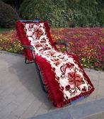 躺椅墊子藤椅墊搖椅墊折疊椅墊子通用坐墊秋冬季加厚防滑沙發墊子 卡米優品