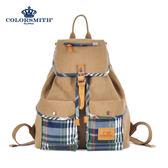 【COLORSMITH】LPC・ 束繩雙口袋後背包-經典綠格紋・ LPC1342-CH-L