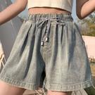 褲子短褲S-5XL實拍松緊腰高腰牛仔短褲女韓版新款大碼熱褲6876.1F039.胖胖唯依