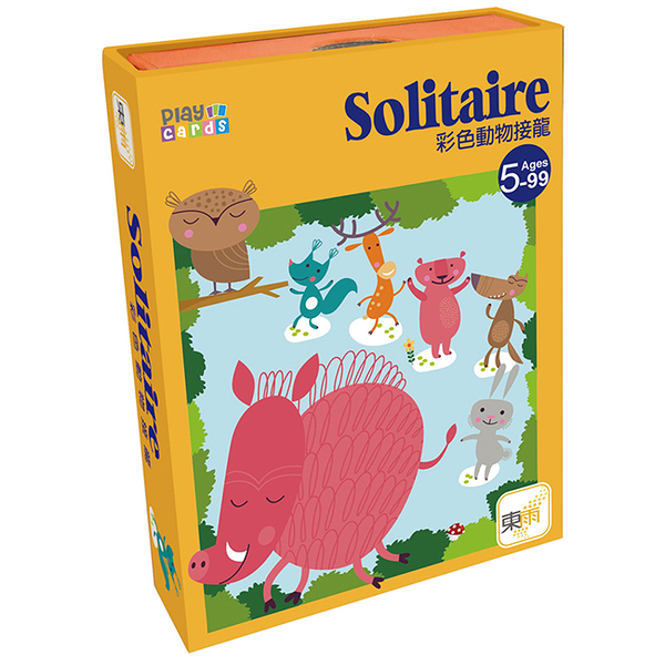 【樂桌遊】T派對桌遊-彩色動物接龍 Solitaire 323007