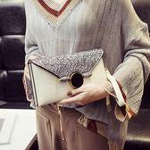 手拿包女潮斜跨包單肩錬條小包包百搭時尚信封包手包