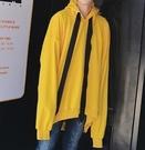 FINDSENSE Z1 韓國 時尚 潮 男 寬鬆大尺碼 超長衣袖 撞色 連帽外