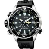 【台南 時代鐘錶 CITIZEN】星辰 Promaster 兩百米專業潛水錶 BN2036-14E 橡膠帶 銀/黑 46mm