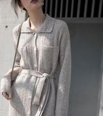 洋裝 2020年新款女高冷御姐風成熟針織連身裙復古法式氣質收腰裙秋凍季