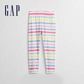 Gap女幼童 布萊納系列 可愛印花鬆緊休閒褲 968906-彩色條紋