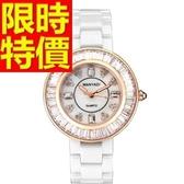 陶瓷錶-甜美浪漫經典女手錶2色55j4[時尚巴黎]