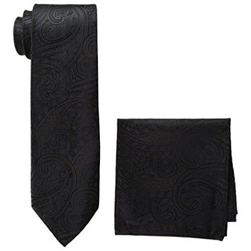 Pierre Cardin-男皮爾卡登領帶和口袋方巾(紅色)